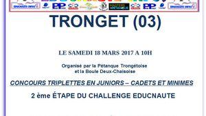 TRONGET (03), 2° étape du Challenge EDUCNAUTE-INFOS 2017