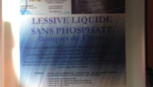 LESSIVE LIQUIDE SANS PHOSPHATE