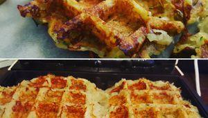 Gaufres de pommes de terre et courgettes
