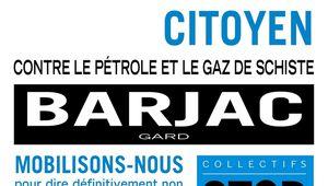Comme bien d'autres départements, le Var sera présent à Barjac, pour dire NON au gaz de schiste. Bravo les collectifs locaux varois.
