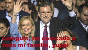 La familia Cifuentes (PP) vive a costa del contribuyente, ella, su hermana, los maridos, ...falta que coloquen a los perros