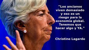 Christine Lagarde sostiene que los ancianos viven demasiado y son un peligro para la economía mundial
