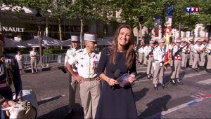 Anne-Claire Coudray Défilé du 14 Juillet TF1 le 14.07.2017