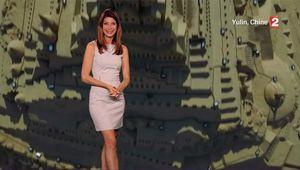 Chloé Nabédian Météo France 2 le 19.08.2017