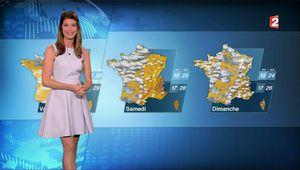 Chloé Nabédian Météo France 2 le 20.08.2017