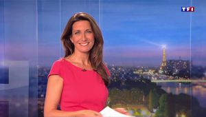 Anne-Claire Coudray JT 20H TF1 le 14.10.2017
