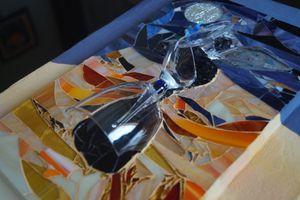 Détails du tableau: La belle inconnue - mosaique Picassiette et verre