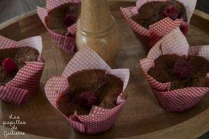 Muffins moelleux  à la framboise