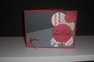 "carte de voeux ""best friend"""