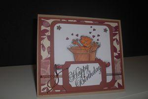 """Carte anniversaire """"chat"""""""
