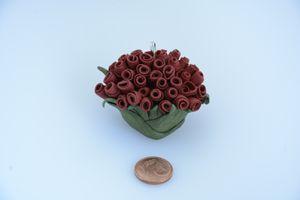 Fimo arte: pendente con rose rosse