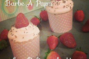 Cupcake Fraise - Barbe A Papa