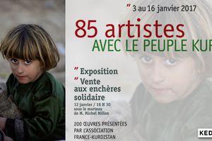 Exposition et vente solidaire : 85 artistes avec le peuple kurde