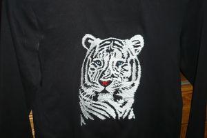 tigre brodé pour ma petite fille