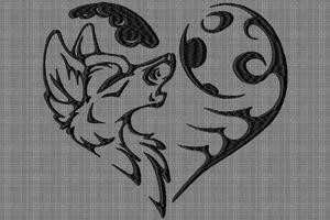 loup cœur