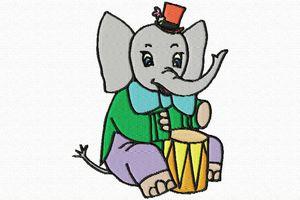 éléphant en couleurs