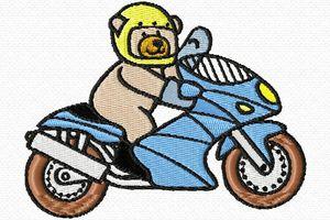 ourson motard