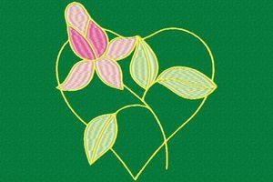 une fleur dans le cœur
