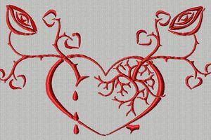 un arbre avec un cœur