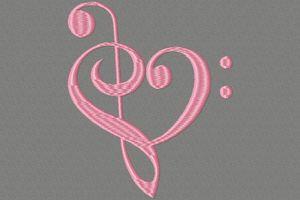 un cœur rose