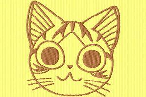 une petite tête de chat