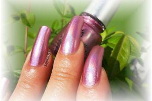 vernis china glaze astro-hot holo - nails papillons