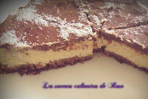 Cheesecake noix de coco-chacolat (Bounty)
