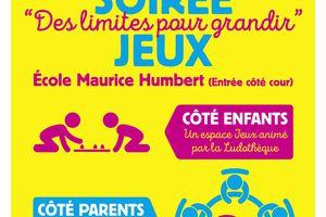 """Soirée jeux """" Des limites pour grandir """" : vendredi 19 mai 2017"""