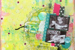 Artiste libre_Défi 2 InterCoupe Scrap_l'Atelier à Scrap