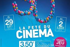 La Fête du Cinéma du dimanche 29 juin au mercredi 2 juillet 2014 inclus. (BANDE ANNONCE)