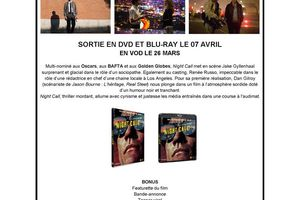NIGHT CALL - En DVD et Blu-Ray le 7 avril 2015 - Extrait 5 mn (VOST)