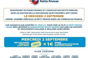 Le Petit Prince : Journée spéciale Associations PETITS PRINCES - Mercredi 2 Septembre 2015