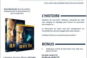 BLACK SEA avec Judd LAW en DVD, BLU-RAY et VOD chez TF1 Vidéo le 21 octobre 2015