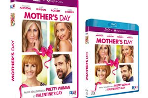 MOTHER'S DAY avec JENNIFER ANISTON, KATE HUDSON, JULIA ROBERTS en DVD, BLU-RAY et VOD le 4 octobre 2016 chez TF1 Video