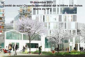"""Comité de suivi """"Chapelle International"""" jeudi 19 décembre 2013"""