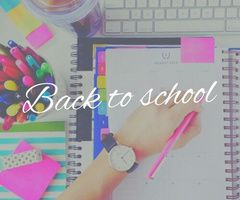 Back to school : Mon organisation