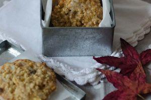 Biscuits moelleux à la pommes, aux raisins secs et aux flocons d'avoine
