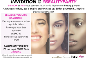 BIB Box fait sa beautyparty