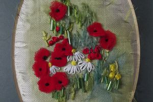Les coquelicots, broderie Rowandean Embroidery