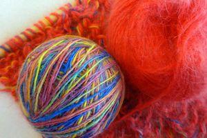 Echarpe multicolore en angora