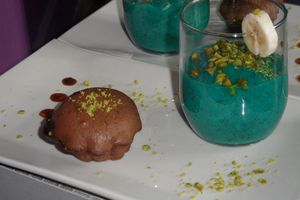 The choco-pistache-blue goûter !