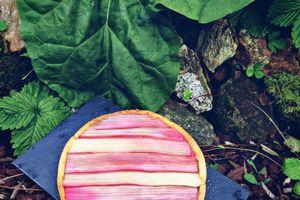 Une deuxième version de tarte à la rhubarbe
