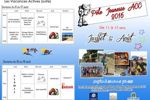 Vacances Actives Eté 2016