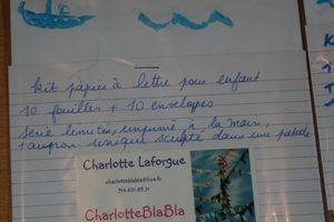 """Kit papier à lettre """"bateau"""""""