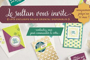Elle arrive : Collection Palais Oriental - 1er Mai 2017 !