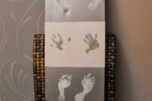 DIY peinture sur cadre avec vos enfants (et leurs empreintes)
