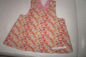 Petite robe dos croisée: tablier