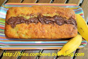 Cake moelleux à la Banane et son Coulant Chocolat Spéculoos