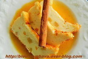 Gâteau au Fromage Blanc Citron Vert, Orange, Gingembre sur sa Gelée Orange Cannelle