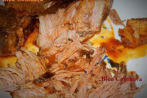 Effiloché de Porc sauce BBQ ou Pulled Pork (USA)